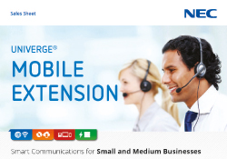 NEC mobile extension brochure