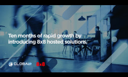 Ten months of rapid growth by introducing 8x8 hosted solutions